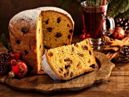 Панетоне - коледен италиански сладък хляб/козунак - снимка на рецептата